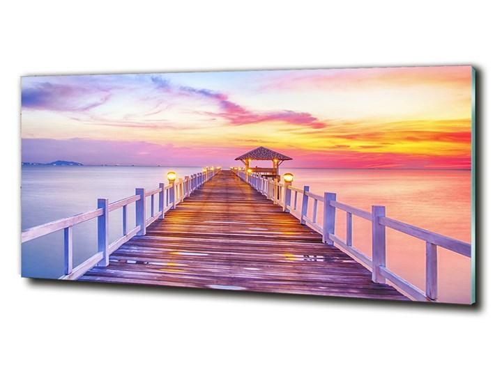 Foto obraz szkło hartowane Drewniane molo