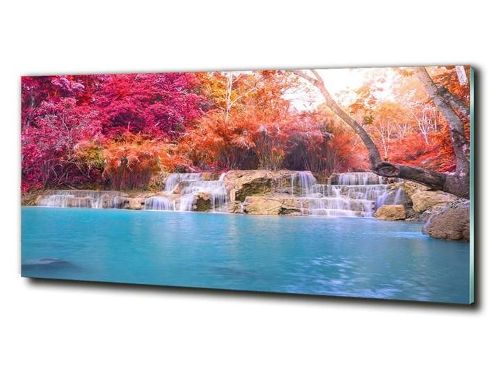 Foto obraz szklany Wodospad w lesie