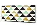Foto-obraz szklany Kolorowe trójkąty
