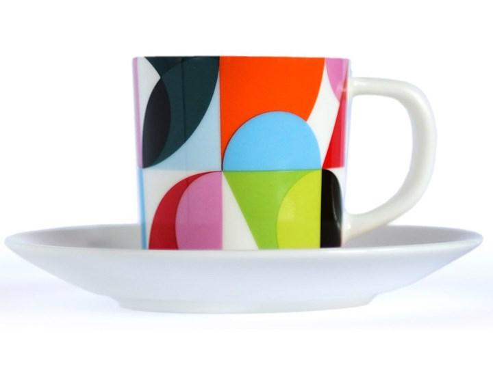 Filiżanka do espresso, porcelanowy kubeczek do kawy ze spodkiem idealny na prezent Filiżanka do kawy Filiżanka ze spodkiem Porcelana
