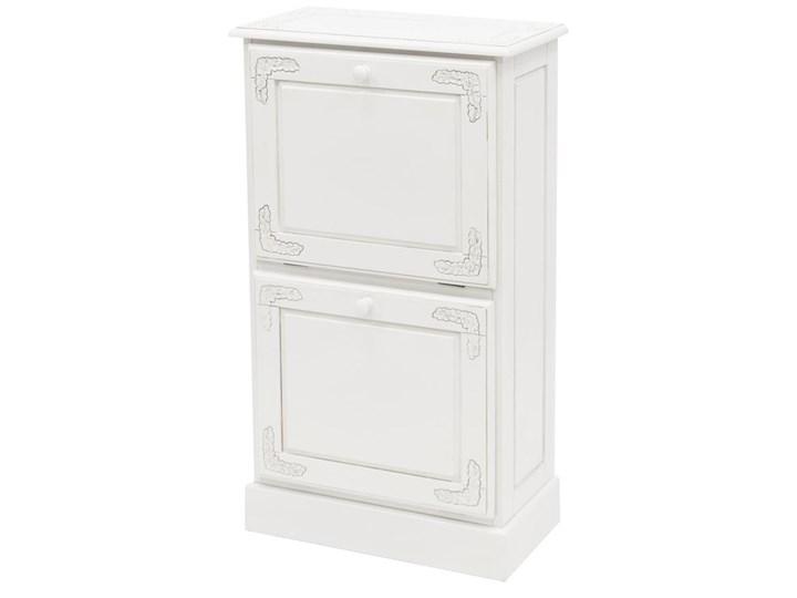 CLASSIC WHITE szafka na buty biała z rzeźbieniem, wys. 99 cm