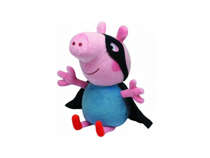 Maskotka TY INC Beanie Babies Peppa Pig - George Superhero 28cm