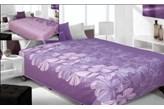 Narzuta dwustronna Kwiat- fiolet+lila 220x240