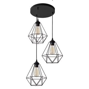 Lampa wisząca industrialna druciana KARO W-KD 1311/3 BK-B