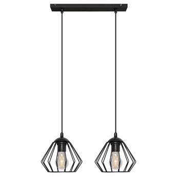 Lampa wisząca metalowa druciana AGAT W-L 1300/2 BK-B