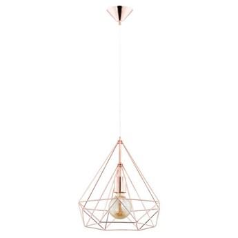 Druciana lampa kratka BASKET miedź śr. 37cm