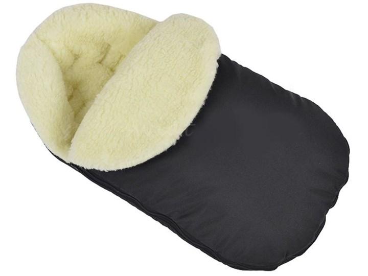 Ciepły śpiworek do wózka fotelika szpitala wełniany Czarny
