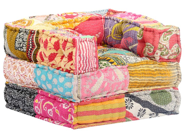 vidaXL Fotel modułowy tapicerowany tkaniną, patchwork
