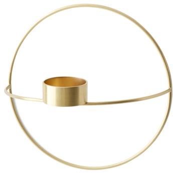 Świecznik okrągły Tealight POV mosiężny S, proj. Note Design Studio, Menu
