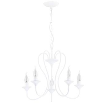 Żyrandol klasyczny świecznikowy UNITY śr. 51cm biały