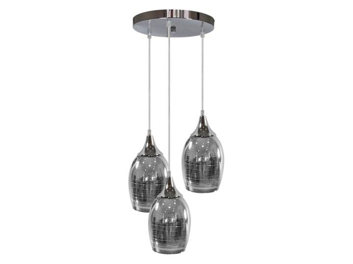 Lampa wisząca Marina 3 x 60 W E27 chrom Szkło Lampa z kloszem Kolor Szary Metal Kategoria Lampy wiszące