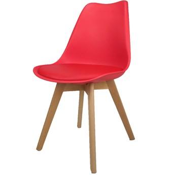 Krzesło Kris Lugano z poduszką czerwone