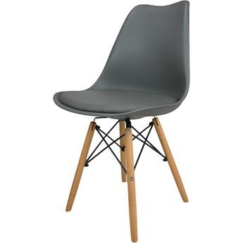 Krzesło Kris Paris Nowoczesne z poduszką jasnoszare