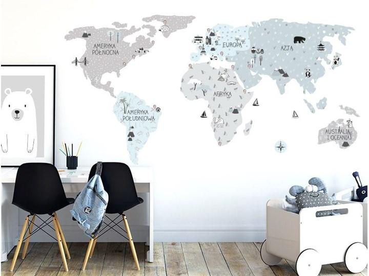 naklejka | mapa świata - eco Pastelowe Love