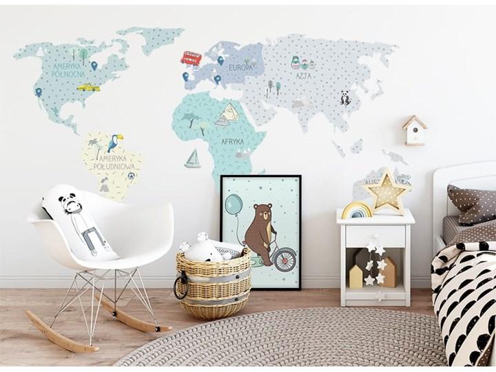 naklejka | mapa świata - miętowa Pastelowe Love
