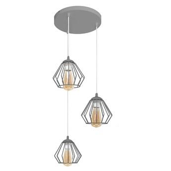 Lampa wisząca metalowa szara AGAT W-KD 1300/3 GR