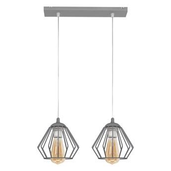 Lampa wisząca szara druciana AGAT W-L 1300/2 GR