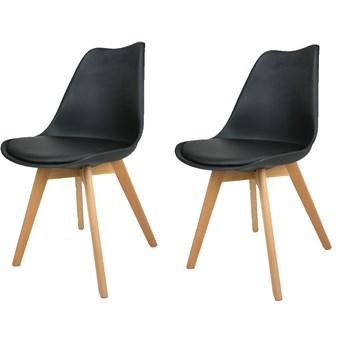 Zestaw 2 x krzesło Kris z poduszką czarne