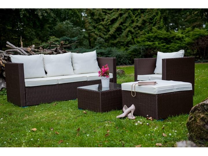 Meble ogrodowe AMARO z brązowego technorattanu Zestawy wypoczynkowe Stal Tworzywo sztuczne Zawartość zestawu Sofa