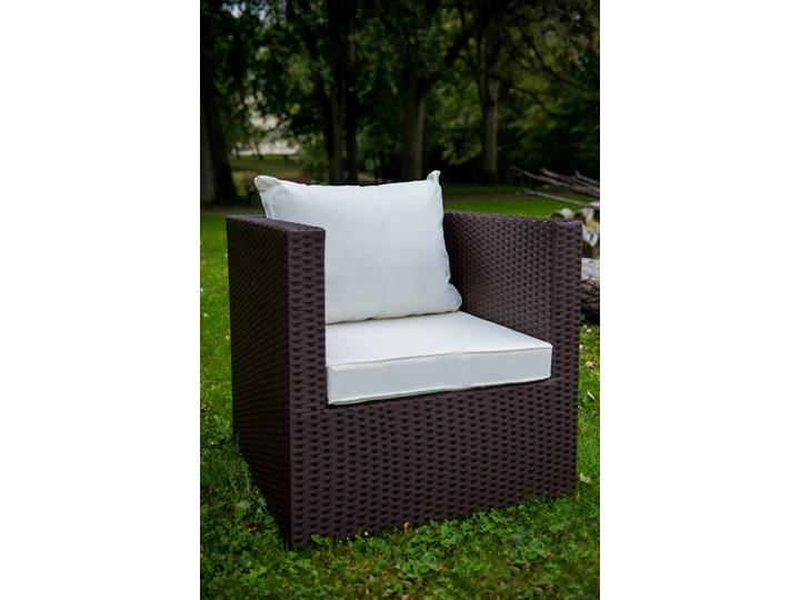 Meble ogrodowe AMARO z brązowego technorattanu Tworzywo sztuczne Zestawy wypoczynkowe Stal Zawartość zestawu Fotele