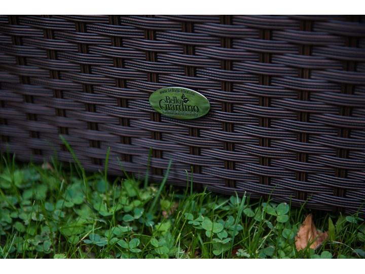 Meble ogrodowe AMARO z brązowego technorattanu Stal Tworzywo sztuczne Zestawy wypoczynkowe Zawartość zestawu Puf Liczba miejsc Pięcioosobowy