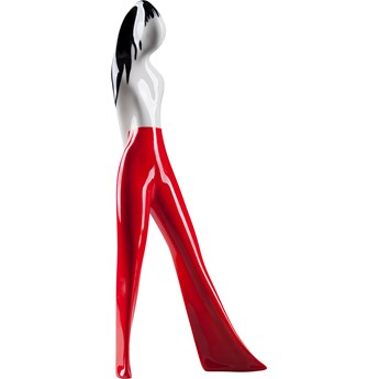 Figurka porcelanowa Dziewczyna w spodniach czerwony dekor, proj. L. Tomaszewski, AS Ćmielów
