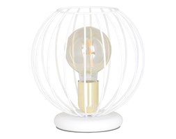 ALBIO LN1 WHITE 145/LN1 lampka nocna LOFT metalowa złoto biała druciak
