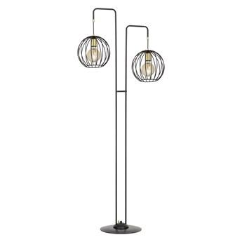 ALBIO LP2 BLACK 144/LP2 lampa podłogowa LOFT metalowa złoto czarna druciak