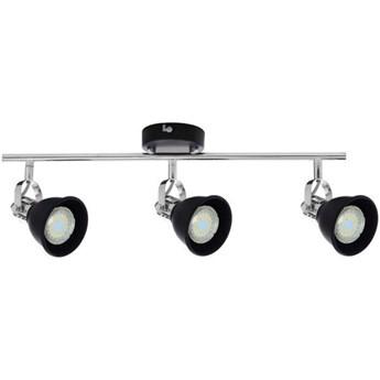 Lampa listwa LED czarna 3pkt ANITA 56,5cm