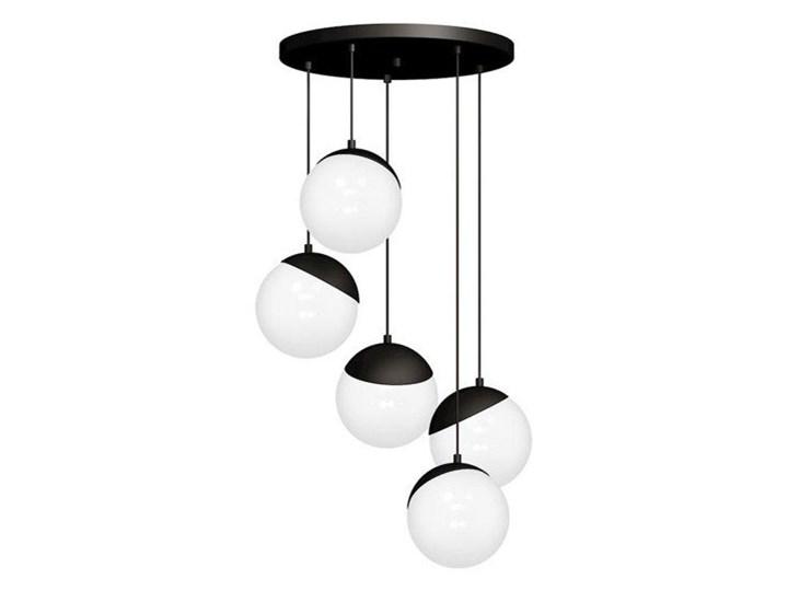 Lampa wisząca nowoczesna szklana kula SFERA V czarnybiały