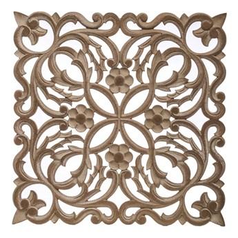 CASANDRA dekoracja ścienna drewniana, panel ażurowy, 60x60 cm