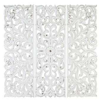 CASANDRA dekoracja ścienna drewniana, panele ażurowe, 3 x 120x40 cm