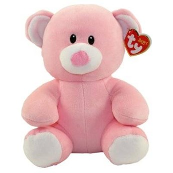 Maskotka TY INC Baby Ty  Princess - Różowy miś 24cm 82006