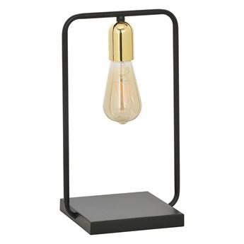 SAVO LN1 BLACK-GOLD 353/LN1 lampka nocna w stylu Loft Edison czarna złote dodatki