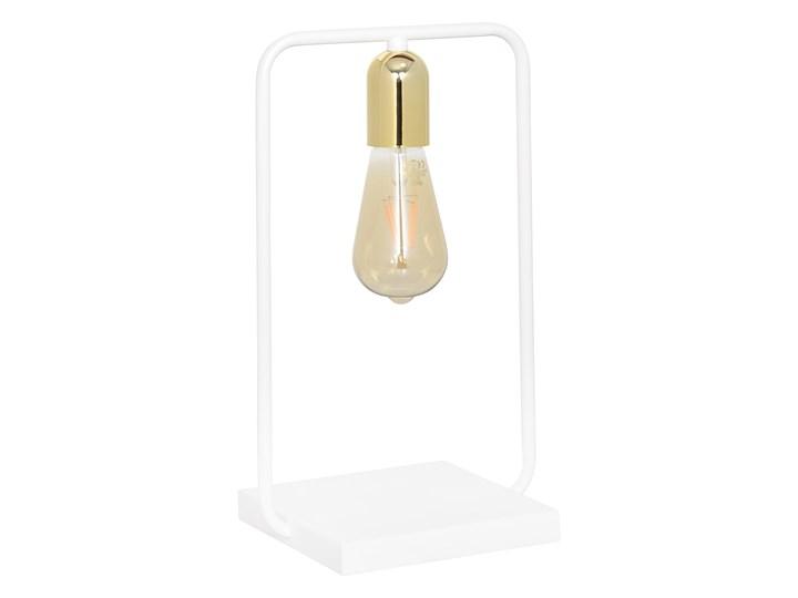 SAVO LN1 WHITE-GOLD 354/LN1 lampka nocna w stylu Loft Edison biała złote dodatki