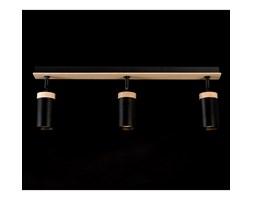 ELBA 3 BLACK 166/3 spot halogen sufitowy regulowany czarny drewno styl skandynawski
