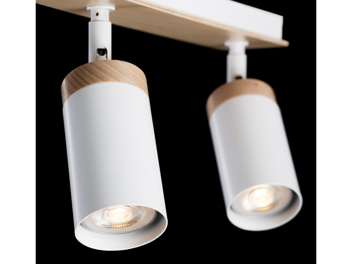 ELBA 2 WHITE 156/2 spot halogen sufitowy regulowany biały drewno styl skandynawski