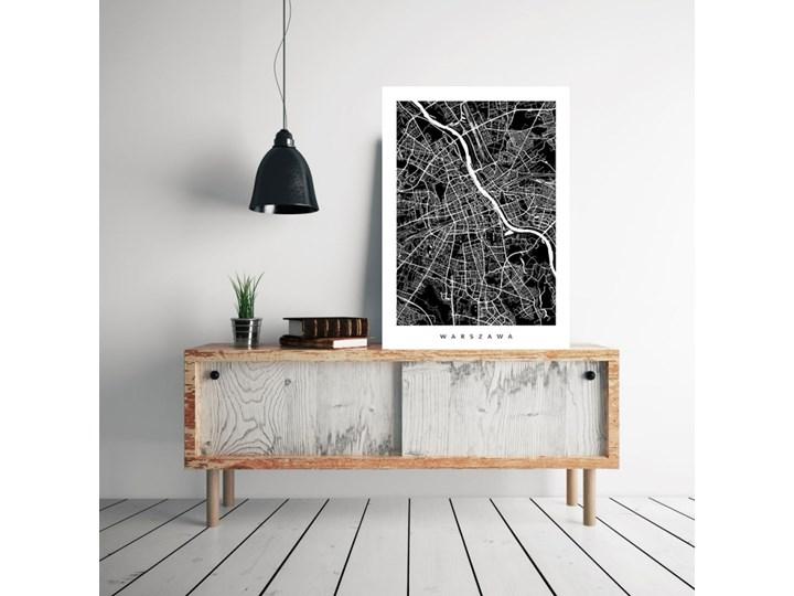 Warszawa - mapa miasta - minimalistyczny plakat