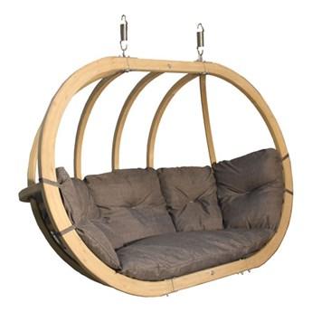 Fotel hamakowy drewniany, Swing Chair Double (2)