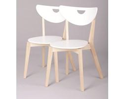 Krzesło Frutta, biały, naturalne drewno