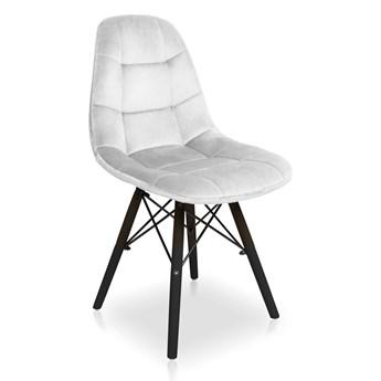 Bettso krzesło Fabio Velvet jasny szary / noga czarna