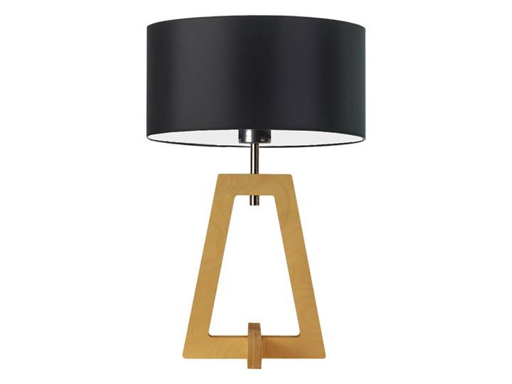 Lampa drewniana CLIO czarny ze złotą folią, dąb