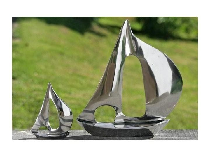 Dekoracyjna figurka yacht Kolor Srebrny Metal Pojazdy Kategoria Figury i rzeźby