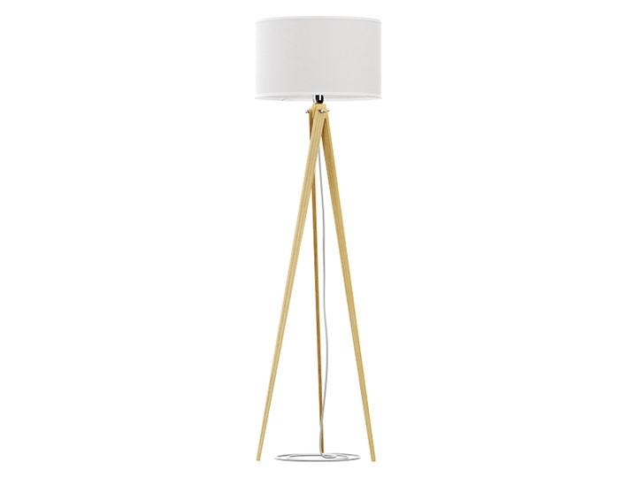 Lampa podłogowa, stojąca na trzech nogach LW14-01-17, trójnóg, biały abażur