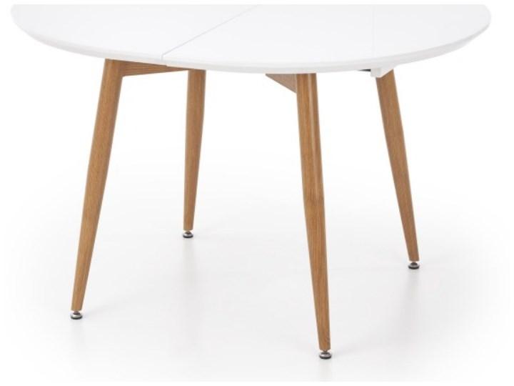 Stół rozkładany Lerma 120-200x100 cm biały - dąb miodowy