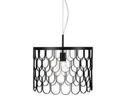 Nowoczesny druciana lampa Gatsby czarna 45cm