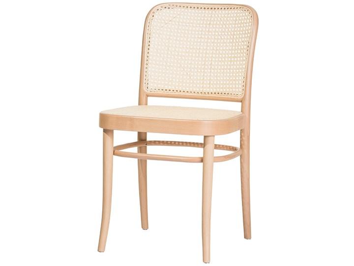 Krzesło 811 Natural z ratanową plecionką Cane, TON Szerokość 45 cm Wysokość 80 cm Drewno Rattan Płyta MDF Tradycyjne Wysokość 46 cm Głębokość 53 cm Styl Nowoczesny Tkanina Głębokość 41 cm Styl Klasyczny