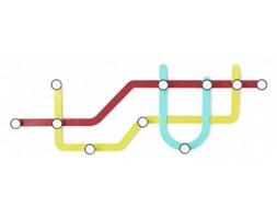 Nowoczesny wieszak ścienny Subway - Umbra