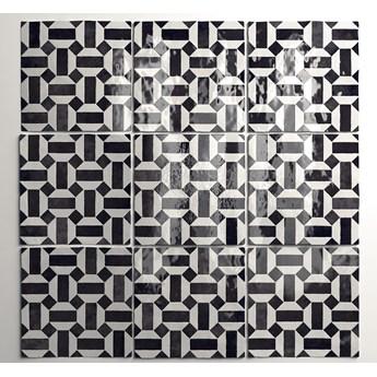 Artisan Lunas B&W 13,2x13,2 cegiełka dekoracyjna