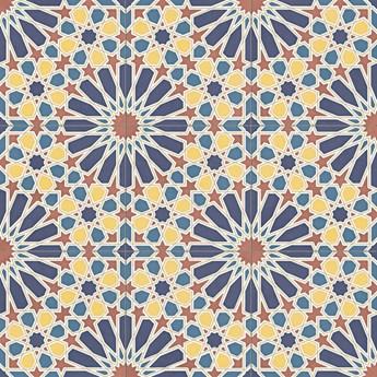 Alhambra Blue Natural  59.2X59.2 płytki wielokolorowe